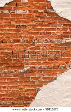 stucco and brick wall design