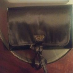 Vs jewelry case new Small fold up case 2 zipper compartment Heart attached on strings to tie into roll New in box Victoria's Secret Other