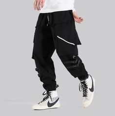 Twenty-eight autumn multi-pocket cargo wear overalls men's tide brand Japanese loose harem pants feet pants casual pants Sweatpants Style, Sweatpants Outfit, Mens Sweatpants, Joggers, 90s Hip Hop, Hip Hop Rap, Grey Man, Adidas Men, Nike Men