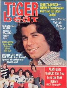Tiger Beat cover July 1976 John Travolta :))