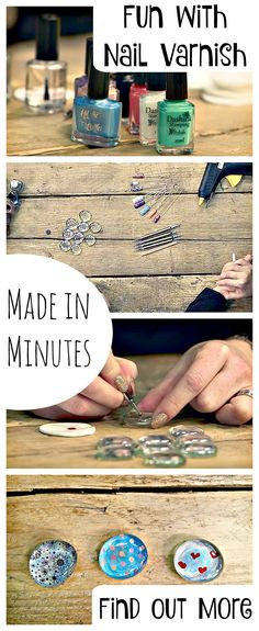 Who knew you could have SO MUCH FUN with nail varnish?! Check out these adorable Fridge Magnets, as super duper easy and fun Nail Varnish Craft that you will keep on making and making. Find out more and see the tips and tricks to make this craft really easy from from the Nail Varnish Experts!