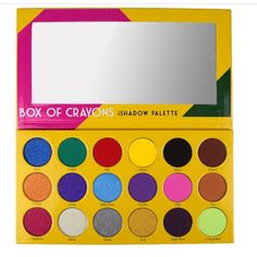 """Just saw the video Laura Lee did using this palette and other """"Crayola"""" makeup products. Let's talk about pigment, girl! This crayon box-inspired eyeshadow palette will make you feel like a kid again - News - Alternative Press Bright Eye Makeup, Eye Makeup Art, Makeup Box, Makeup Brush Set, Makeup Tools, Makeup Ideas, Makeup Stuff, Buy Makeup, Makeup Geek"""