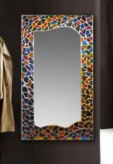 Espejos de cristal decorado artesanalmente con vitral. Modelo GAUDI RECTANGULAR GR. Posibilidad en diferentes medidas y acabados. Disponible en dos medidas.