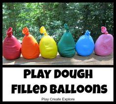 Play Create Explore: Playdough Filled Balloons