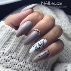 50 Classy Nail Designs with Diamond Ideas that will Steal the Show - cute nails - Diamond Nail Designs, Diamond Nails, Nails Design With Diamonds, Diamond Design, Classy Nail Designs, Gel Nail Designs, Classy Nails, Trendy Nails, Uñas Fashion
