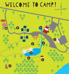 Roundup River Ranch: Camp Map