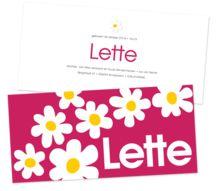 creativeservices.be geboortekaartje met retro bloemen