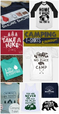 camping t-shirt roundup a girl and a glue gun