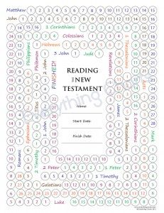 LDS Gospel Freebie:  New Testament Reading Chart
