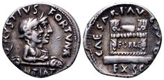 AR Denarius. Roman Imperial, Augustus, Rome, Q.Rustius moneyer. 18mm, 3,96g, 1h. RIC 322. Price realized (2.7.2016): 524 EUR.