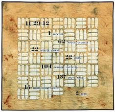 137 Bullets, quilt by Diane K. Bird (Ohio) from the SAQA Member Art exhibit Guns: Loaded Conversations
