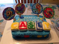 Woot! Woot! Look at this super cake Grandmother Robin Allberg shared with us! Her daughter created it for her son, Casey's, first birthday!! Using our free #diy #birthday kit!! You can get it in our Fan Club here: http://thegigglebellies.com/free/ #GBbirthday