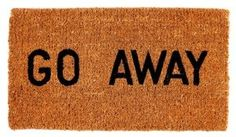 Amazon.com : Kempf Go Away Doormat, 16 by 27 by 1-Inch : Funny Door Mats : Patio, Lawn & Garden