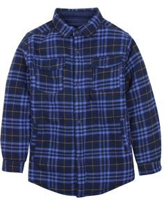 Mayoral Junior Boy's Reversible Plaid Shirt/Jacket, Sizes 8-16 (16). Reversible quilted plaid shirt / jacket; Lightly padded;. Fabric: Flannel / Tech Fabric; 100% Cotton, 100% Polyester;.