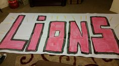 Cheer sign run thru poster