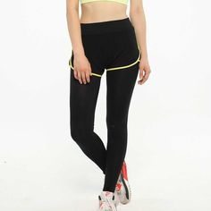 5eb874eb Stretched Gym Running Tights Women Sports Leggings Fitness Yoga Pants