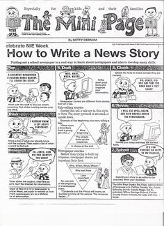 WRITE | CARTOON - HOW TO WRITE AN ARTICLE (NEWSPAPERS IN EDUCATION PROGRAMS)