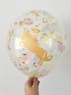 Welcome to Oh How Charming!  What makes Oh How Charming confetti balloons so special?! Each confetti balloon is hand pressed to order by myself at my in house studio in Florida! • This listing is for (1) clear pink, peach, yellow, mint, light blue, lavender and gold confetti 11 latex