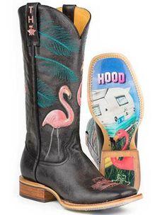 Tin Haul Women's Flamingo Western Boots