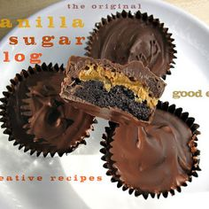 Cake filled peanut butter cups @keyingredient #cake #cheese #peanutbutter #chocolate