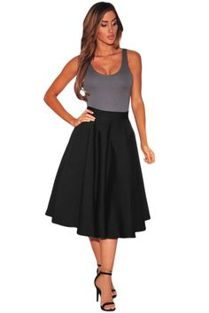 Tailored to perfection, this a-line beaut is your top pick for the season. Flared A-line fit, tulle inside lining, sheen finish and center back hidden zipper. HHFashion Flared A-Line Midi Skirt works