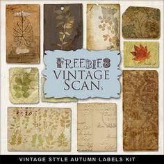 Freebies Vintage Style Labels Kit