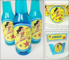 Free wonder woman party ideas, wonder woman homemade party favors