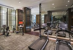 The Fitness Center at The Grand Mansion, A Luxury Collection Hotel, Nanjing by HBA Design.