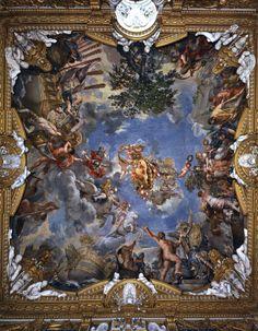 The Athenaeum - Ceiling of Palazzo Pitti (Pietro da Cortona - ) Html, Baroque Painting, Italian Baroque, Baroque Fashion, Classical Art, Celestial, I Wallpaper, Faith In God, Ancient Greek