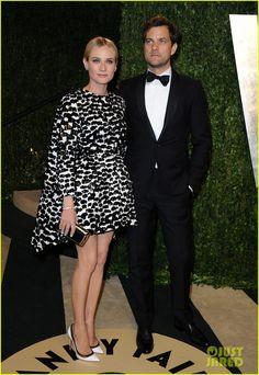 gorgeous - Diane Kruger & Joshua Jackson (in Giambattista Valli dress and Christian Louboutin shoes) (Vanity Fair party feb 2013)