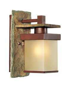 """Slate Stone Collection 11"""" High Indoor/Outdoor Wall Sconce -"""