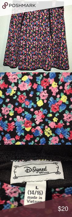 Floral skater skirt Cute and comfy floral skater skirt   Size is large in kids Disney Bottoms Skirts