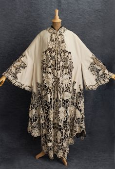 Irish crochet coat - cashmere and hand made lace, perfect for letting in the Spring breezes of an evening