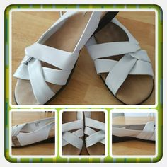 👡White Slingback Sandals Size 10M 👡 ❌FINAL❌ Like New Woman's White Slingback Sandals From Woman Within Brand Is Comfortview And Size Is 10 Medium. These Have A Cushioned Footbed And Are True To Size Super Cute & Comfy. There's Some Black Markings On The Side From Where The Heel Of One Shoe Scraped The Other But Other Then That These Are In Excellent Condition Worn Once Or Twice 🚫 PAYPAL 🚫 TRADES 🚫 OFFERS PRICE IS FIRM & FINAL NOW 👡 Woman Within  Shoes Sandals
