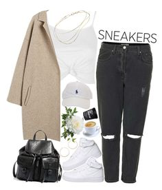 """White Sneakers"" by sisistyle ❤ liked on Polyvore featuring Topshop, NIKE, Steve Madden, Jennifer Zeuner, Elsa Peretti, StreetStyle, boyfriendjeans and whitesneakers"