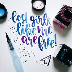 Beautiful watercolour lettering by Brush Lettering Quotes, Watercolor Hand Lettering, Doodle Lettering, Calligraphy Quotes, Calligraphy Letters, Typography Quotes, Typography Inspiration, Typography Letters, Lettering Design