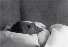 Wittgenstein on his deathbed, Cambridge, April 1951.