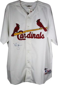 Mark McGwire Rawlings White Cardinals Jersey (No Number on Back)
