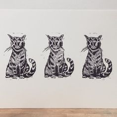 Test printing a new little Lino ready for the xmas DIY art market. #lino #linoprint #illustration