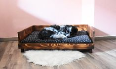 Toddler Bed, Etsy Shop, Furniture, Home Decor, Wood Dog Bed, Dark Wood, Handmade, Weihnachten, Nice Asses