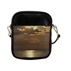 Awesome Sea Scene Sling Bag (Model 1627)