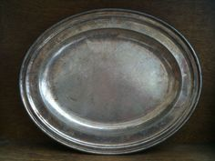 Vintage English Silver Oval Serving Platter by EnglishShop on Etsy, $79.00