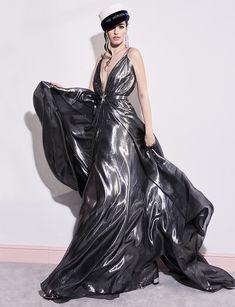 Ringo Dress Designer Formal Dresses, Silver Gown, Fairy Dress, Silk Slip, 70s Fashion, Silk Dress, Mini Skirts, Feminine, Glamour