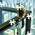 The New Yorker online jigsaw puzzle.  Bored at work, take a good-for-your-brain break
