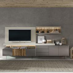 & Entdecken Sie diesen im # Salon de tv cabinet design, Living Room Tv Unit Designs, Design Living Room, Cozy Living Rooms, Living Room Decor, Tv Wall Unit Designs, Bedroom Tv Unit Design, Tv Stand Designs, Tv Unit Decor, Tv Wall Decor