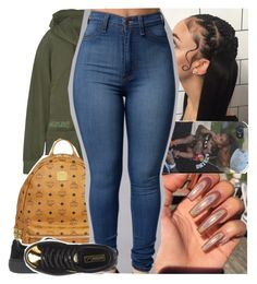 """""""say you not a side b*tch, you all in or nah?"""" by lamamig ❤ liked on Polyvore featuring James Perse, MCM and Puma"""