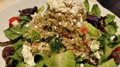 https://www.facebook.com/KellyYoumansFitness   This quinoa salad is to die for. Can you tell what's in it?