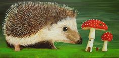 [1/7] Hedgehog painting | Magical Daydream