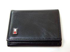 Tommy Hilfiger Black Leather Trifold wallet #TommyHilfiger #Trifold