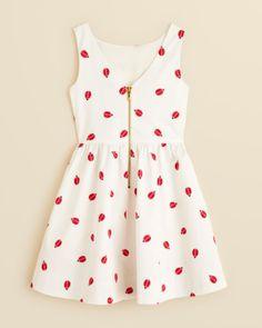 kate spade new york Girls' Carolyn Ladybug Print Dress - Sizes 7-14 | Bloomingdales's